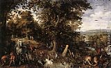 Jan the elder Brueghel Garden of Eden painting